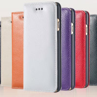 Business-Style-Luxury-Real-Genuine-Cowhide-Leather-Case-For-iPhone-6-4-7-inch-Magnetic-Flip